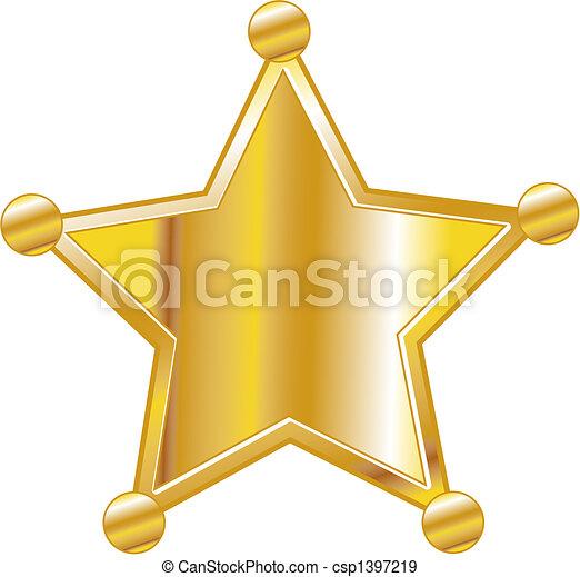Sheriff badge clip art - csp1397219