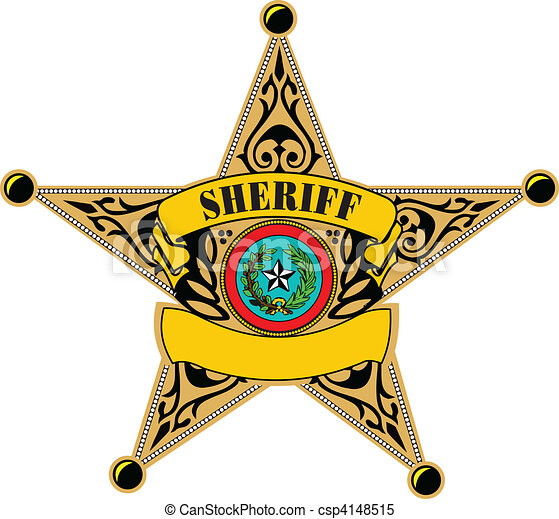 sheriff badge vector illustration clipart vector search rh canstockphoto com western sheriff badge clipart sheriff badge clipart black and white