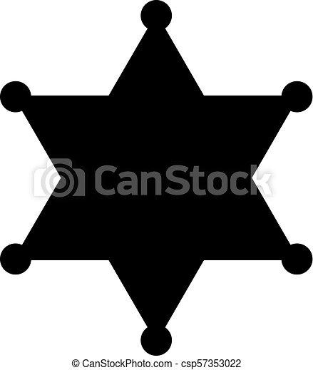 sheriff badge vector silhouette star rh canstockphoto com county sheriff badge vector sheriff star badge vector