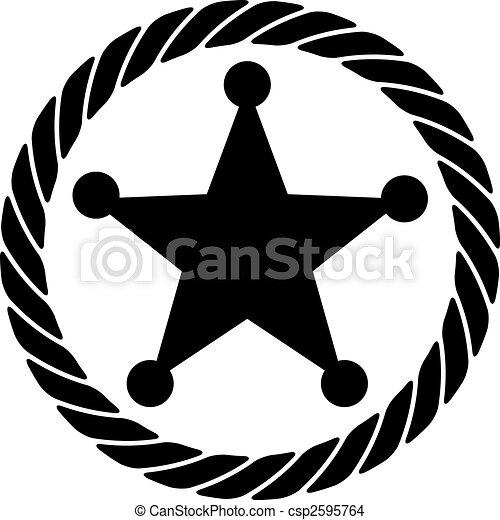 Sheriff Rope Badge Icon - csp2595764