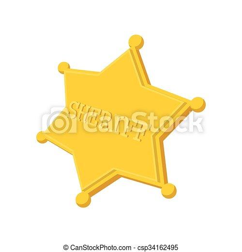 Sheriff star cartoon icon - csp34162495