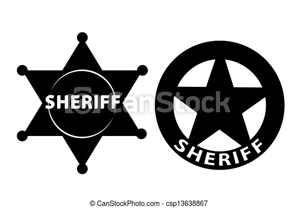 Sheriff star - csp13638867
