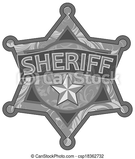 Sheriff Star This Illustration May Be Useful As Designer Work