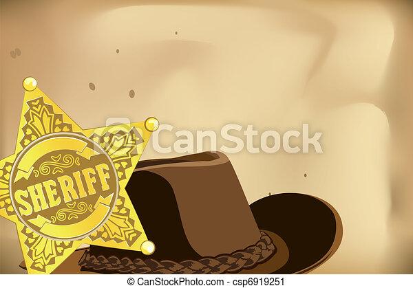 Sheriff star - csp6919251