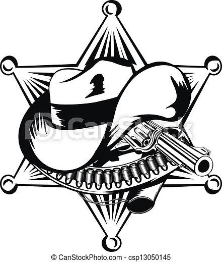 La estrella del sheriff - csp13050145