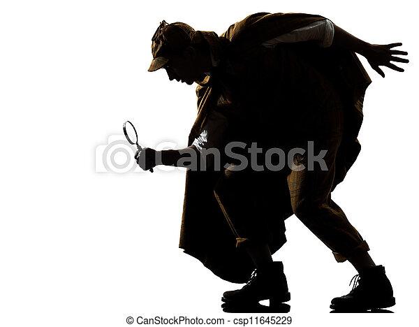 sherlock holmes silhouette - csp11645229