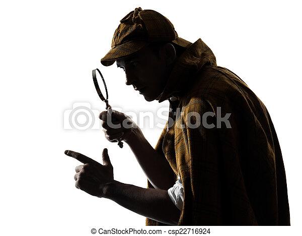 sherlock holmes silhouette - csp22716924