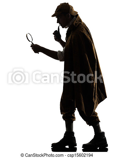 sherlock holmes silhouette - csp15602194