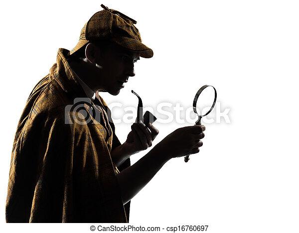 sherlock holmes silhouette - csp16760697