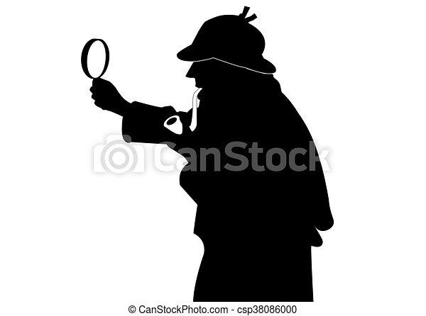 sherlock holmes rh canstockphoto com sherlock holmes clip art magnifying glass sherlock holmes clip art free