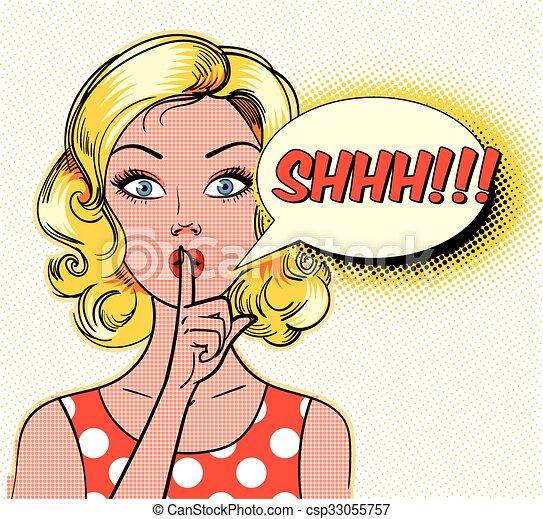 shhh! - csp33055757