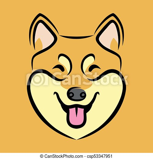 Shiba Inu 幸せ 犬 顔 Shiba かわいい Inu 犬 イラスト 顔