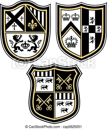 shiel, emblema, araldico, cresta, classico - csp5625051