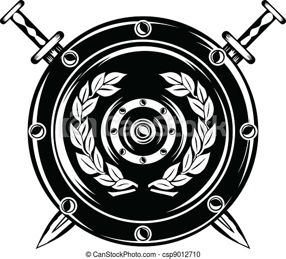 shield and crossed swords - csp9012710