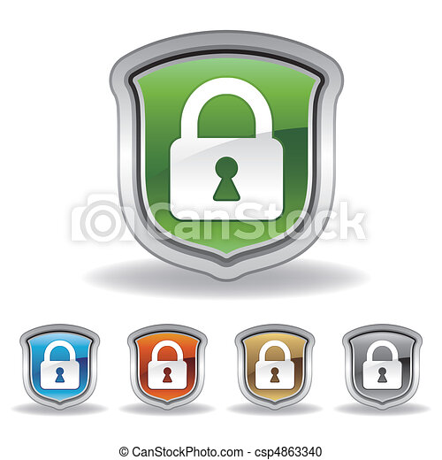shield and lock icon - csp4863340