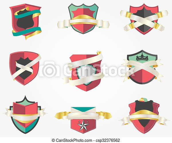 Shield Badges Design Template