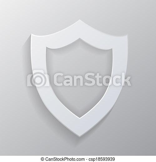 Escudo blanco vacío. - csp18593939