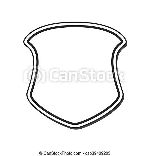 Shield frame security label design. Shield frame security label ...
