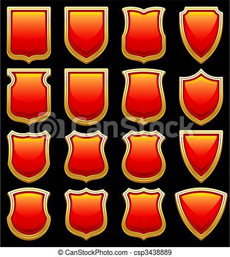 shield icons - csp3438889