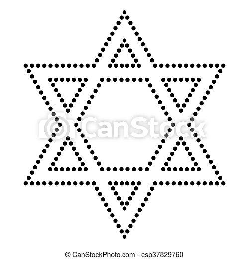Star Of David Clipart Black And White