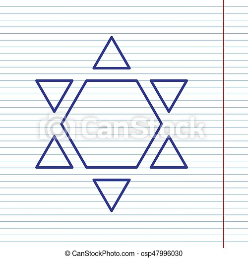Shield Magen David Star Inverse Symbol Of Israel Inverted Vector