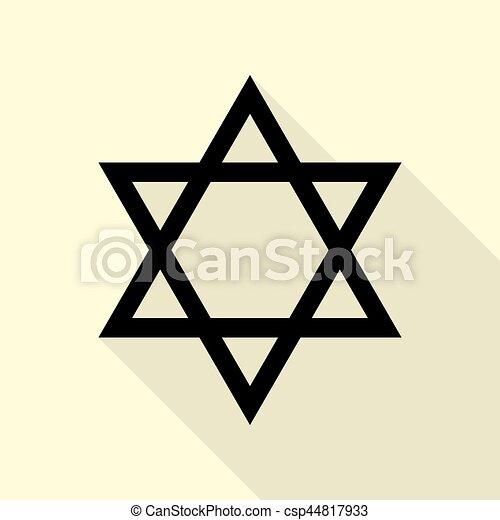 shield magen david star symbol of israel black icon with rh canstockphoto com