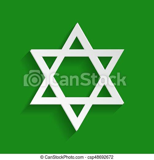 Shield Magen David Star Symbol Of Israel Vector Paper Whitish