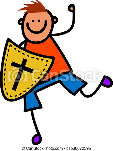 Shield of Faith Boy - csp38870595