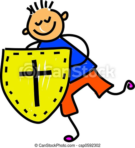 little boy holding shield of faith ephesians 6 toddler art series rh canstockphoto com faith clipart free faith clipart images