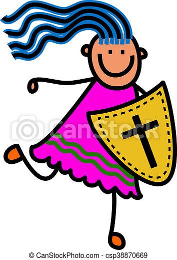 Shield of Faith Girl - csp38870669