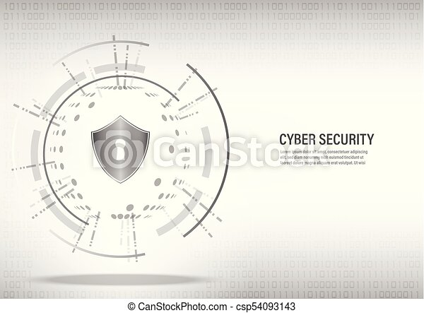 Shield on digital white background. - csp54093143