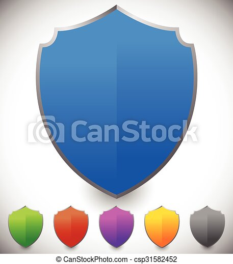 Shield shape for protection, defense concept. Vector. - csp31582452