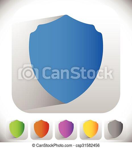Shield shape for protection, defense concept. Vector. - csp31582456