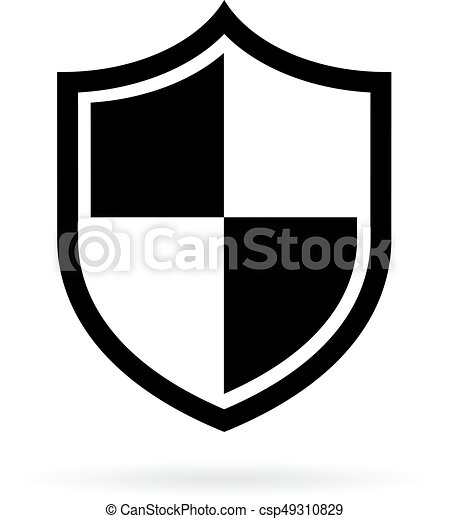 shield vector pictogram isolated on white background vector rh canstockphoto com shield vector art free download shield clipart vector free