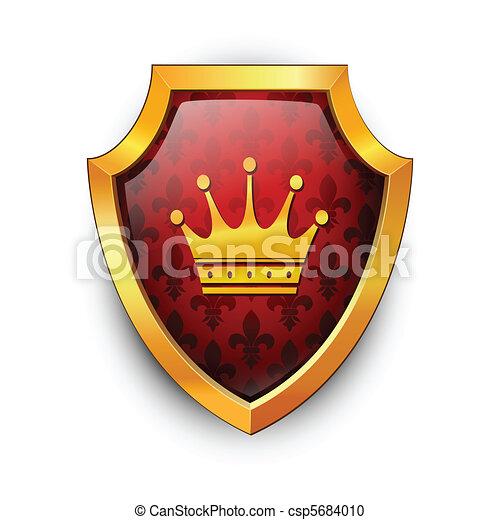 Shield. Vector.  - csp5684010