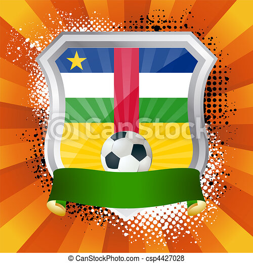 Shield with flag of Central African Republic