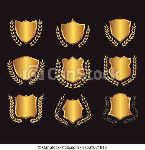 shields laurel wreaths collection - csp61831813