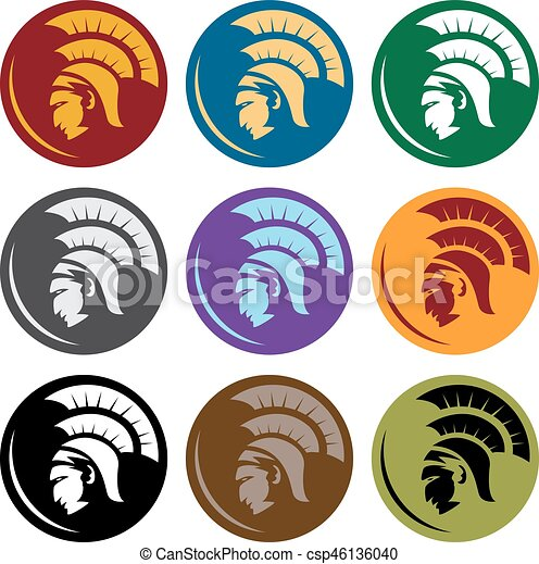 shields with spartan head vector design template head eps vector rh canstockphoto com red spartan head logo red spartan head logo