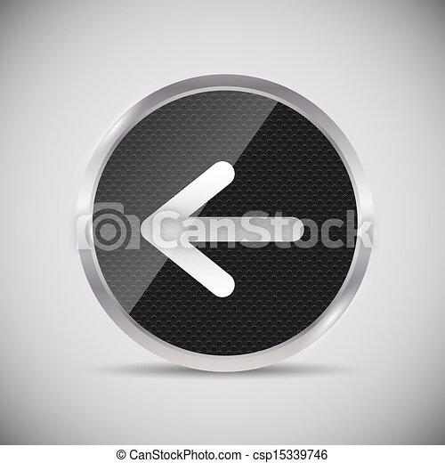 Shine glossy computer icon vector illustration - csp15339746