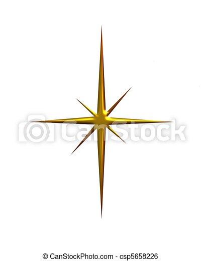 Shining Gold Star - csp5658226