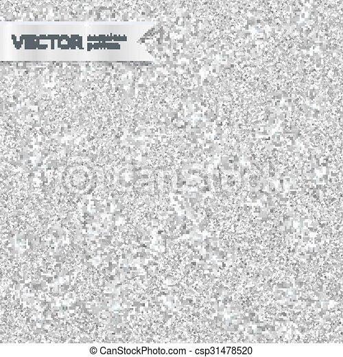 Shining silver glitter texture seamless pattern - csp31478520