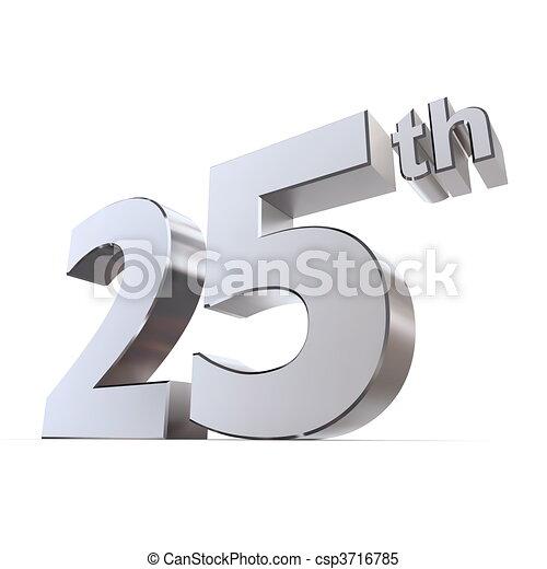 Shiny 25th - Silver/Chrome - csp3716785