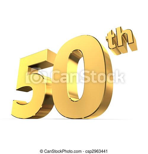 Shiny 50th - Gold - csp2963441