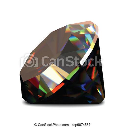 Shiny and bright diamond. Vector - csp9074587