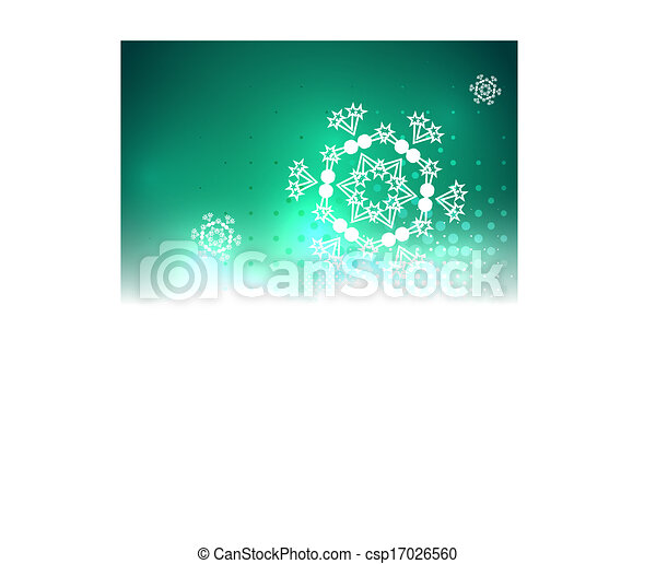 Shiny bright abstract snowflake Christmas background - csp17026560