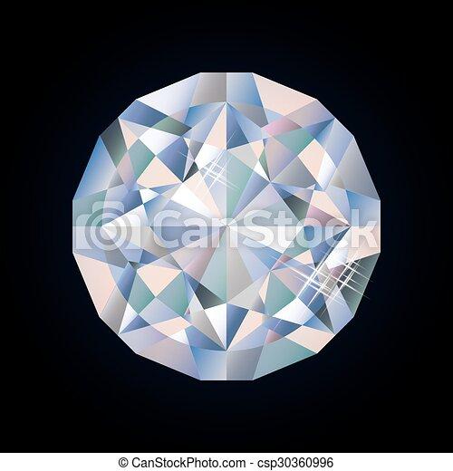 Shiny bright diamond, vector  - csp30360996