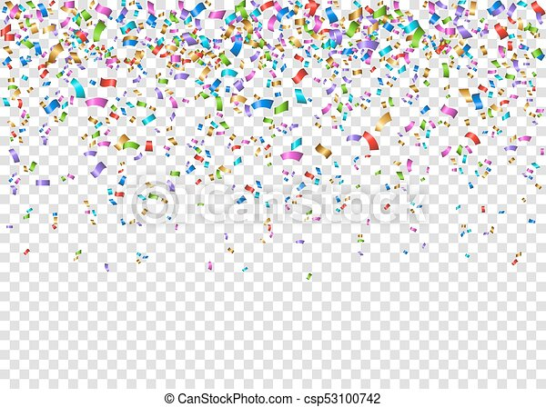 Christmas Tinsel Transparent Background.Shiny Colorful Festive Tinsel Isolated On Transparent Background