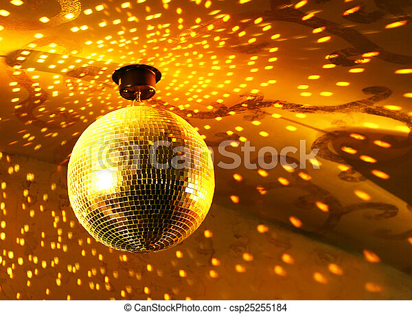 Shiny disco ball - csp25255184