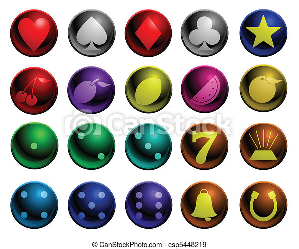 Shiny gambling icons - csp5448219