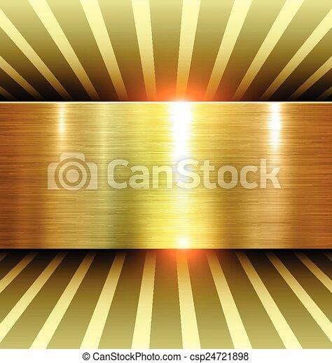 Shiny Gold Background - csp24721898